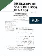 Administracion de Personal y Recursos Humanos Tercera Edicion William Werther Keith Davis