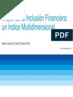 Gestion Financiera - Inclusion Financiera 2014