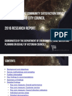 Greater Bendigo Community Satisfaction Survey 2016