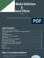social media addictions   social effects