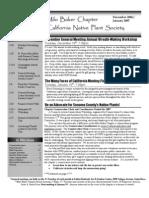 Milo Baker Chapter Newsletter, December 2006 ~ California Native Plant Society