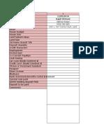 Customer List Blank