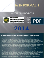 Minería Informal e Ilegal en el Perú