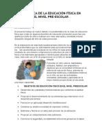Didáctica de La Educación Física en El Nivel Preescolar