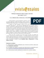 Edital Revista Ensaios