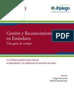 Gestión y Reconocimiento Basado en Estándares, Una guía de campo, JHPIEGO.pdf