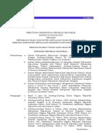 Peraturan Pemerintah Tahun 2014 PP Nomor 59 Tahun 2014