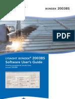 Bondek 2003BS Software