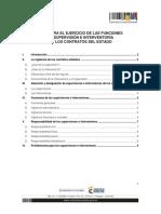 GUÍA PARA EL EJERCICIO DE LAS FUNCIONES  DE SUPERVISIÓN E INTERVENTORÍA  DE LOS CONTRATOS DEL ESTADO