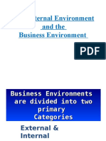 the external environment and the business environment  1