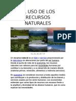 El Uso de Los Recursos Naturales Force 1