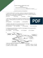 evaluacion matematicas grado 5