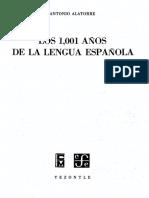 Los 1001 Años de La Lengua Española (Alatorre)