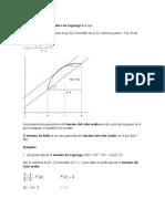 El Teorema Del Valor Medio o de Lagrange Dice Que