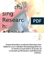 Franchising Research - Finale