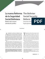 La Reforma de La Seguridad Social Boliviana(1)