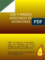 Uso y Manejo Adecuado de Extintores