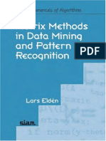 2007 Matrix Methods in Data Mining and Pattern Recognition (Society for Industrial and Applied Mathematics,2007,0898716268)