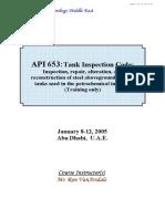 API 653 Tank Inspection R