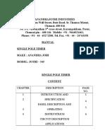 1 Pole Timer Manual