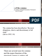 The Uses of the Comma