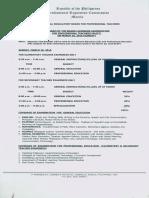 Schedule of Let Exam 2016