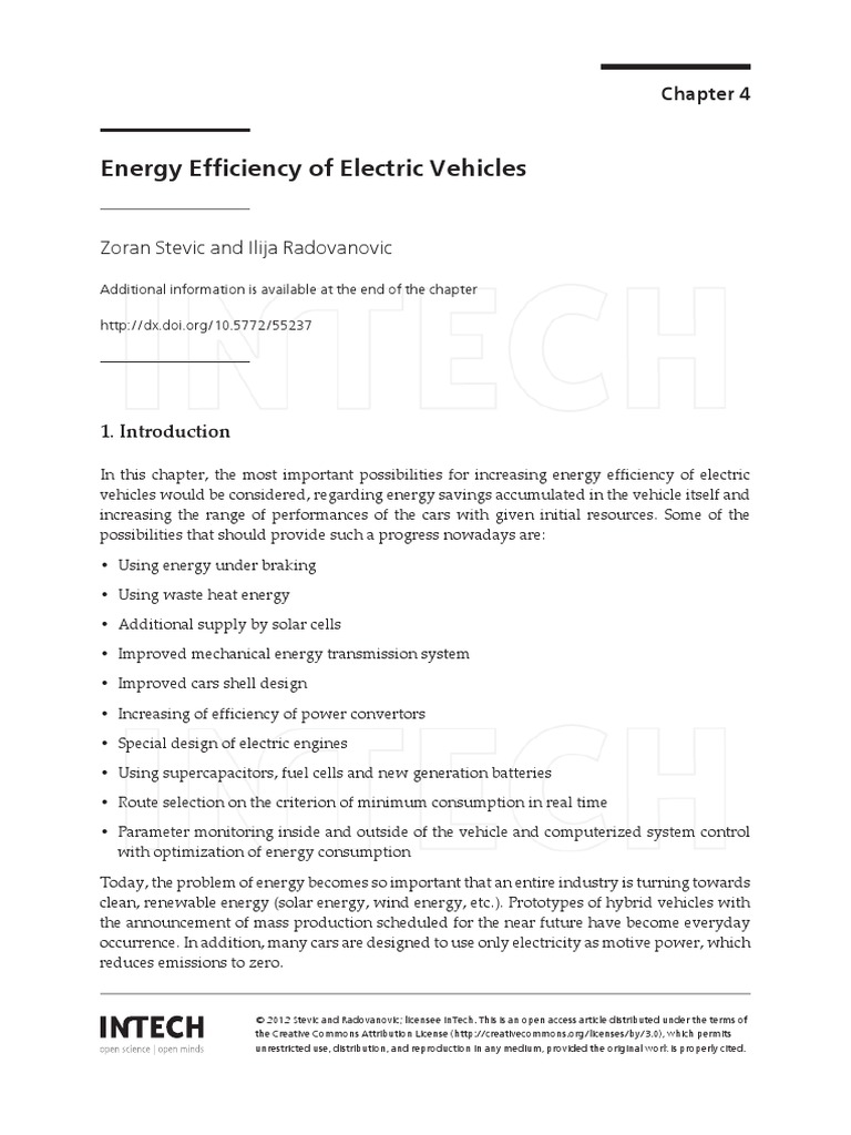Energy Efficiency Ev Tire Battery Electricity Torque Control In Electric Vehicle Propulsion Systems Intechopen