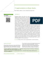Role of Vitamin D Supplementation in Allergic Rhinitis