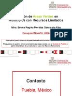 Dotacion de Areas Verdes en Municipios Limitados