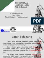 Instalasi dan Integrasi 3G