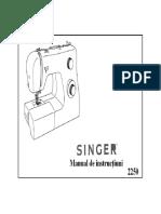 User Manual Singer 2250 Rom