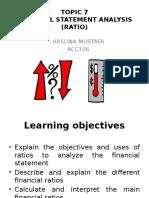 Financial Statement Analysis (Ratio) presentation