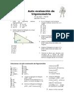 Autoevaluación de Trigonometría 4º Mat B