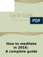 How to Meditate in 2016 :a Complete Guide