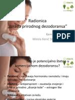 Radionica Dezodoransi