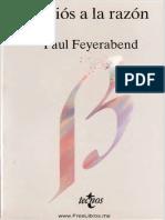 Feyerabend, Paul., Adios a La Razon