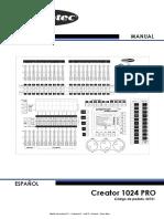 Showtec Creator 1024 Pro - Manual de Usuario