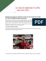 Top 10 Ứng Cử Viên Cho Danh Hiệu Vua Phá Lưới Euro 2016