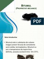 Bitumul-Proprietati mecanice