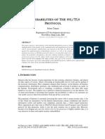 VULNERABILITIES OF THE SSL/TLS PROTOCOL