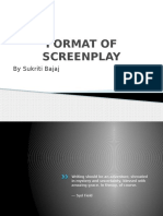 Format of Screenplay
