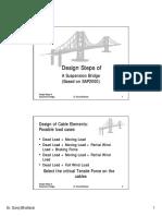 Design Steps Suspension Bridges