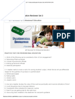 Professional Education Set 3
