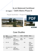 A Case Study-Delhi Metro Phase III - Balanced Cantilever Bridge