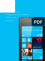 Windows Phone 8 - The Right Choice for Business a Reviewers Guide