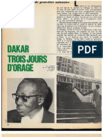 Dakar, Trois Jours d'Orage