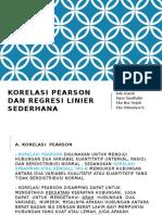 Korelasi Pearson Dan Regresi Linier Sederhana