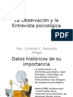 La Observación y La Entrevista Psicológica
