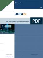 ACTAtek and Jakin ID Vertical Market Penetration Leadership
