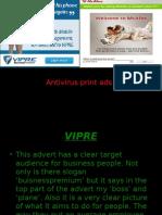 2 Print Adverts on Antivirus Internet Protection